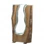 Große Vase mit Holzelement. Bild 1