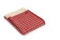 Wolldecke Cobweave Red, rot. Bild 1