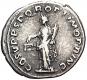 Antike Silbermünze Trajan. Bild 2