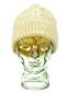 Aran-Mütze aus Wolle, beige. Bild 2