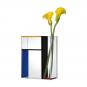 Blau-rot-gelbe Vase »Piet« nach Piet Mondrian. Bild 2