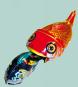 Blechspielzeug Fressender Raubfisch. Bild 2
