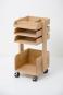 Büro-Rollwagen aus Holz. Bild 2