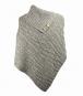 Damen-Poncho aus Wolle, braun. Bild 2