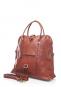 Damenhandtasche mit Tragegriff, braun. Bild 2