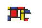 Holz-Bauklötze »Mondrian«. Bild 2