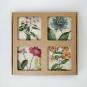 Marmor-Untersetzer »Gartenblumen«, 4er-Set. Bild 2