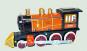 Eisenbahn mit Waggons aus Blech. Bild 2