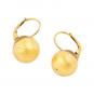 Ohrringe aus Murano Perle, gold. Bild 2