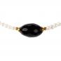 Perlenkette mit schwarzem Onyx. Bild 2