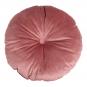 Rundes Kissen aus Samt, rosa. Bild 2
