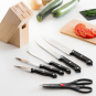 Scharfes Messerset mit Holzblock, 6-teilig. Bild 2
