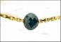 Schwarzer Diamant - Einkaräter mit vergoldeter Silberkette. Bild 2