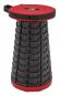 Teleskop-Hocker, rot/schwarz. Bild 2