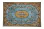 Teppich im Vintage-Look gelb mit blau, 188 x 115 cm. Bild 2