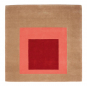 Teppich Josef Albers »Hommage to the Square«, beige/rot. Bild 2