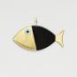 2 Wanddeko-Fische, schwarz. Bild 3