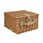 Traditioneller Picknick-Weidenkorb. Bild 3