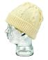 Aran-Mütze aus Wolle, beige. Bild 3