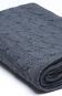 Wolldecke mit Kaschmir, dunkelgrau. Bild 3