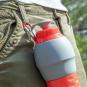 Faltbare Trinkflasche aus Silikon. Bild 3