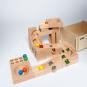 Kugelbahn aus Holz mit Klangplatten. Bild 3
