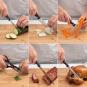 Scharfes Messerset mit Holzblock, 6-teilig. Bild 3