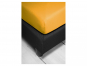 Spannbetttuch, goldgelb, 100 x 220 cm. Bild 3