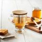 Teeglas mit Sieb und Holzdeckel. Bild 3
