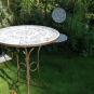 Gartentisch mit Keramikkacheln. Bild 4