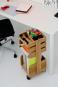 Büro-Rollwagen aus Holz. Bild 4