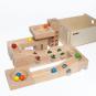 Kugelbahn aus Holz mit Klangplatten. Bild 4