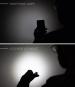 Portemonnaie mit Lampe, schwarz. Bild 4