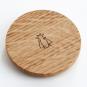 Teeglas mit Sieb und Holzdeckel. Bild 4