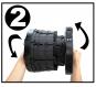 Teleskop-Hocker, schwarz. Bild 5