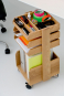 Büro-Rollwagen aus Holz. Bild 6